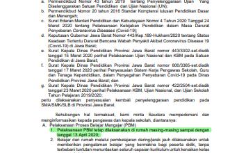 """Photo of PERPANJAAN kebijakan """"social distancing"""" sampai 13 April 2020"""