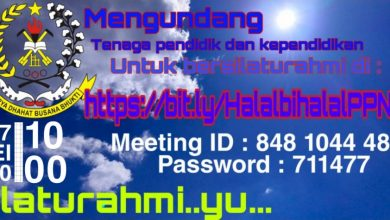 Photo of UNDANGAN silaturahmi musafahah online SMK PPN Tanjungsari dengan aplikasi zoom ID : 848 1044 4864    pass : 711477